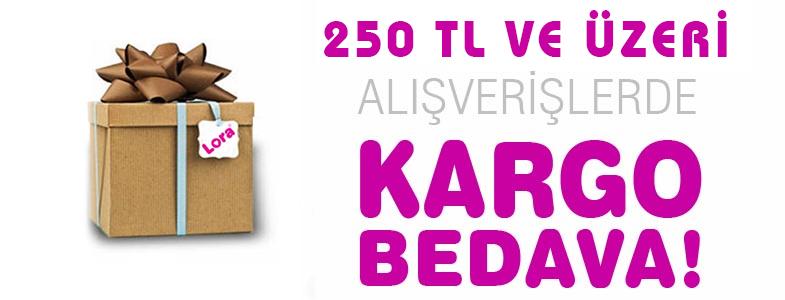 250 TL üzeri alışverişlerde Kargo Bedava