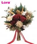 Kuru Çiçekli Gelin El Buketi - 41047