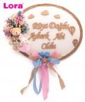 Kuru Çiçekli Bebek Kapı Süsü - 75528
