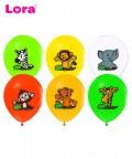 10 Adet 25cm Safari Baskılı Balon
