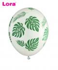 10 Adet 25cm Yaprak Baskılı Balon - 98449