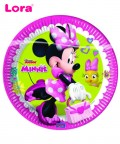 Minnie Mouse Karton Tabak 23cm (8Adet) - 98783
