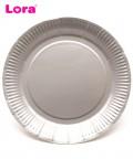 22cm Gümüş Kağıt Tabak 8 Adet - 98896