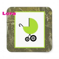 Kız Bebek Şekeri Etiketi - 98204
