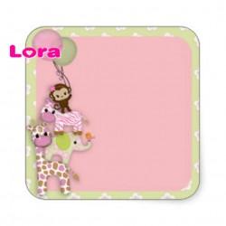 Kız Bebek Şekeri Etiketi - 98220