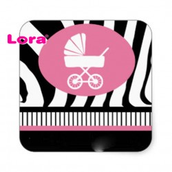 Kız Bebek Şekeri Etiketi - 98224