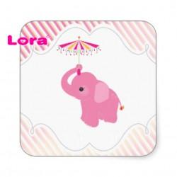 Kız Bebek Şekeri Etiketi - 98232