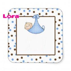 Erkek Bebek Şekeri Etiketi - 98254