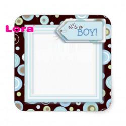 Erkek Bebek Şekeri Etiketi - 98272