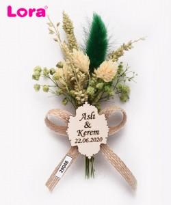 Kuru Çiçekli Yeşil Seri - 29048