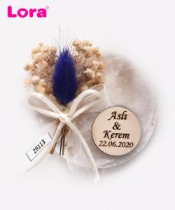 Kuru Çiçekli Mor Seri - 29113