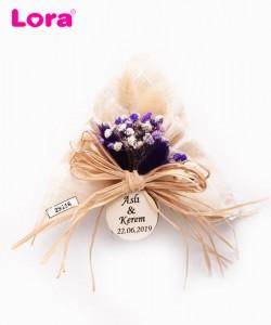 Kuru Çiçekli Mor Seri - 29116