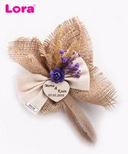 Kuru Çiçekli Mor Seri - 29118