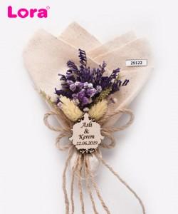 Kuru Çiçekli Mor Seri - 29122