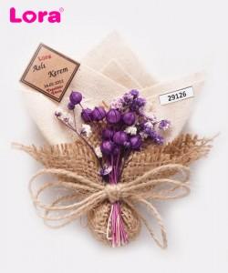 Kuru Çiçekli Mor Seri - 29126