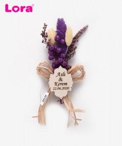 Kuru Çiçekli Mor Seri - 29129