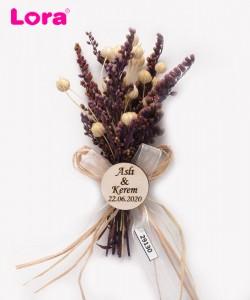 Kuru Çiçekli Mor Seri - 29130