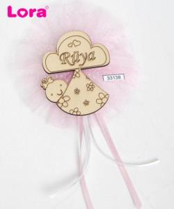 Ahşap Biblolu Kız Bebek - 33138