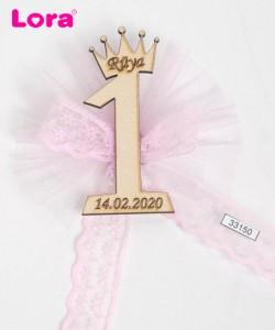 Ahşap Biblolu Kız Bebek - 33150
