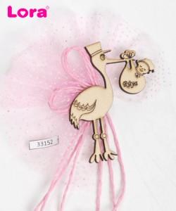 Ahşap Biblolu Kız Bebek - 33152