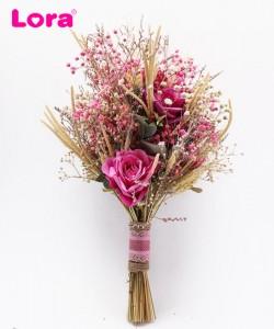 Kuru Çiçekli Gelin Buketi - 41017