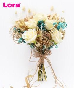 Kuru Çiçekli Gelin Buketi - 41018