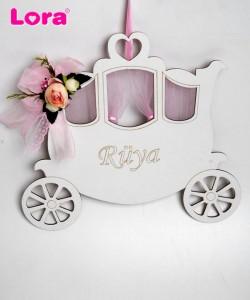Ahşap Kız Bebek Kapı Süsü - 75672