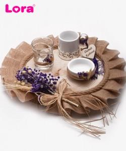Kuru Çiçekli Damat Kahve Tepsisi - 82027