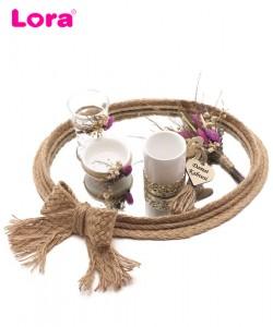 Kuru Çiçekli Damat Kahve Tepsisi - 82084