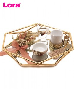 Kuru Çiçekli Damat Kahve Tepsisi - 82086