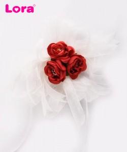 Yapay Çiçekli Bohça Süsleri - 88405