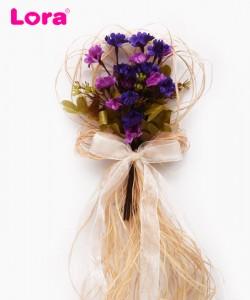 Yapay Çiçekli Bohça Süsleri - 88406