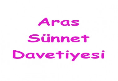 Aras Sünnet Davetiyesi - 4892