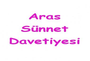 Aras Sünnet Davetiyesi - 4902
